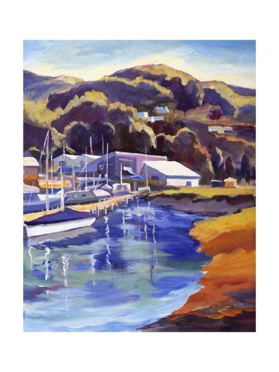 Blue Boat-Kay Carlson-Premium Giclee Print