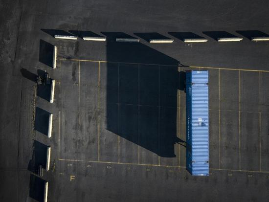 Blue Boxes 4-Moises Levy-Giclee Print