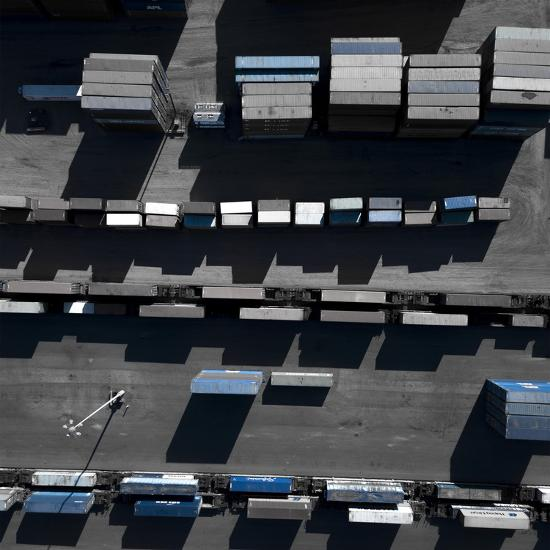 Blue Boxes 5-Moises Levy-Giclee Print