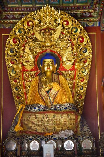 Blue Buddha Hands, Peace Altar Offerings Yonghe Gong Buddhist Lama Temple-William Perry-Photographic Print