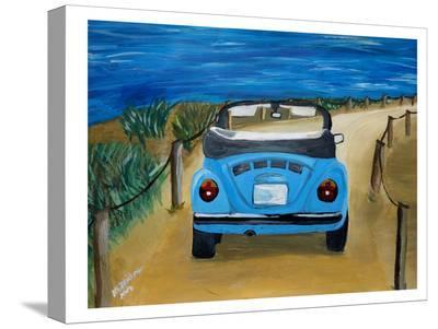 Blue Bug At Beach-M Bleichner-Stretched Canvas Print