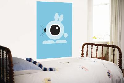Blue Bunny Eye-Avalisa-Wall Mural