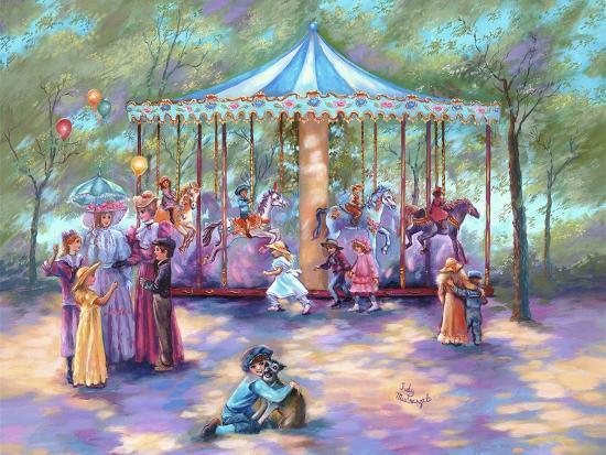 Blue Carousel-Judy Mastrangelo-Giclee Print