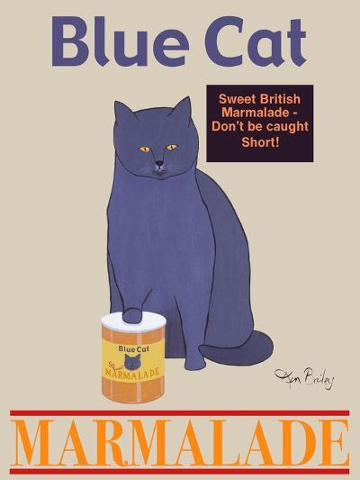 Blue Cat-Ken Bailey-Premium Giclee Print