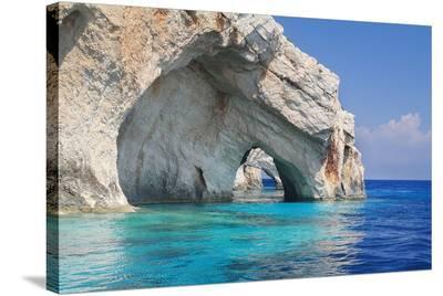 Blue Caves Zakynthos Greece--Stretched Canvas Print