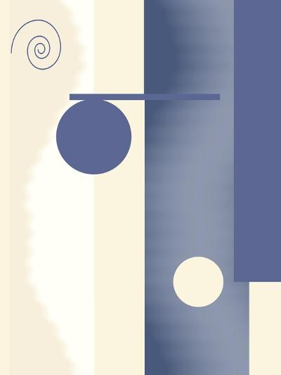 Blue Circle Series Two-Ruth Palmer-Art Print