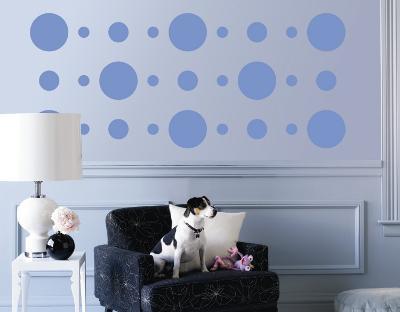 Blue Circles--Wall Decal
