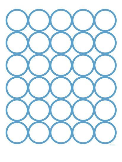 Blue Circles-Avalisa-Art Print