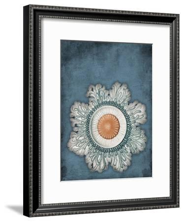 Blue Coastal-Jace Grey-Framed Art Print