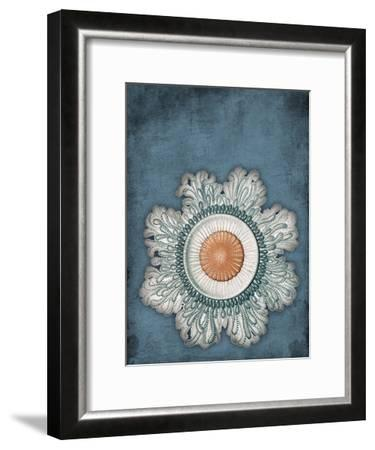 Blue Coastal-Jace Grey-Framed Art Print