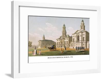 Blue-Coat Hospital Dublin, 1798-James Malton-Framed Art Print