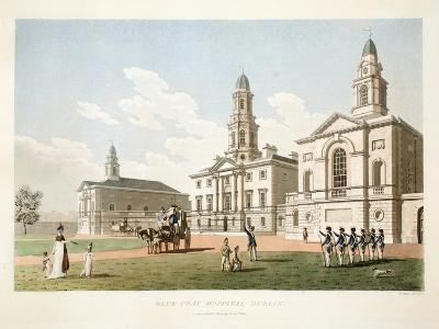 Blue-Coat Hospital, Dublin, 1798-James Malton-Giclee Print
