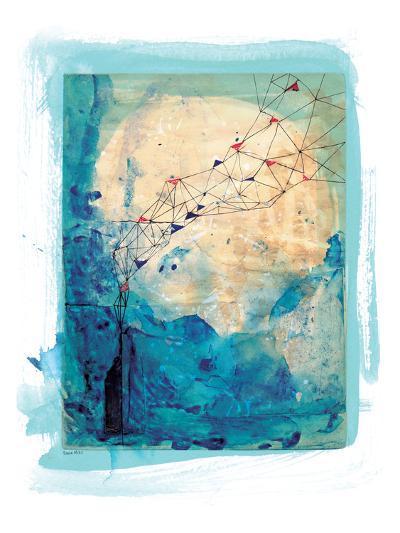 Blue Collage Archival-Paula Mills-Art Print