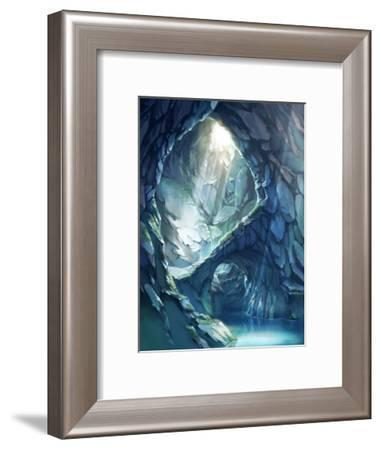 Blue Color Cave of Mysterious Light-Kyo Nakayama-Framed Giclee Print