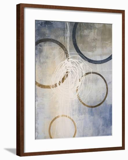Blue Connections II-Michael Marcon-Framed Art Print