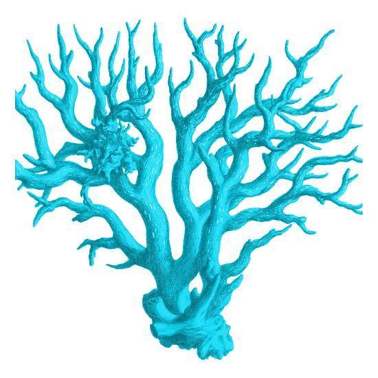 Blue Coral 3-Sheldon Lewis-Art Print