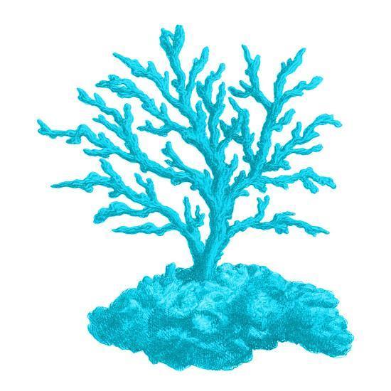Blue Coral 4-Sheldon Lewis-Art Print