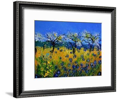 Blue Cornflowers 545130-Pol Ledent-Framed Art Print