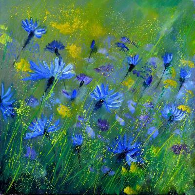 Blue Cornflowers 555160-Pol Ledent-Art Print