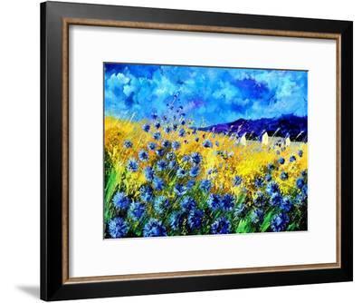 Blue cornflowers 68-Pol Ledent-Framed Art Print