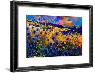 Blue Cornflowers 756-Pol Ledent-Framed Art Print