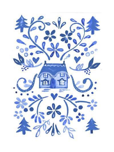 Blue Cottage-Elizabeth Rider-Giclee Print