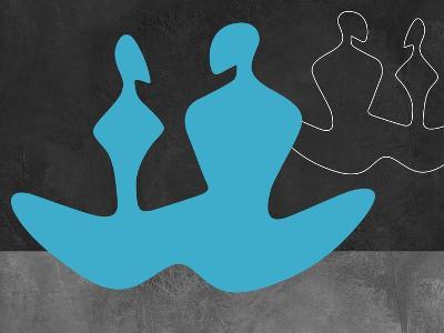 Blue Couple 2-Felix Podgurski-Art Print
