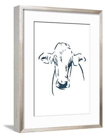 Blue Cow-OnRei-Framed Art Print