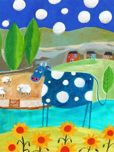 Blue Cow-Nathaniel Mather-Premium Giclee Print