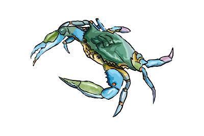 Blue Crab 2 - Icon-Lantern Press-Art Print