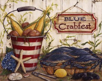 Blue Crabfest-Kate McRostie-Art Print