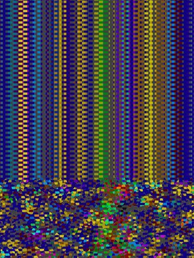 Blue Criss Cross-Ruth Palmer-Art Print