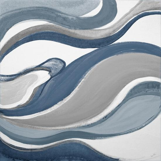 Blue Curves Abstract Square-Lanie Loreth-Art Print