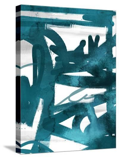 Blue Cynthia 1-Cynthia Alvarez-Stretched Canvas Print