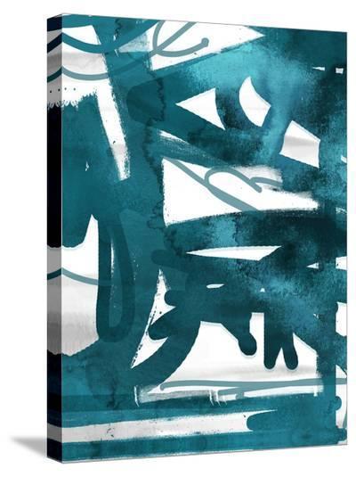 Blue Cynthia 2-Cynthia Alvarez-Stretched Canvas Print