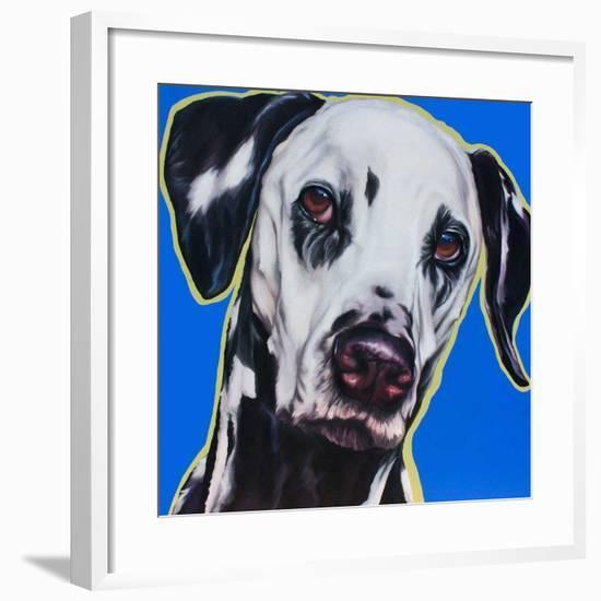 Blue Dalmation-R Berghaus-Framed Art Print
