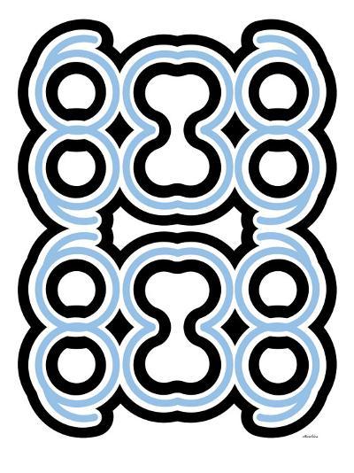 Blue Design, no. 10-Avalisa-Art Print