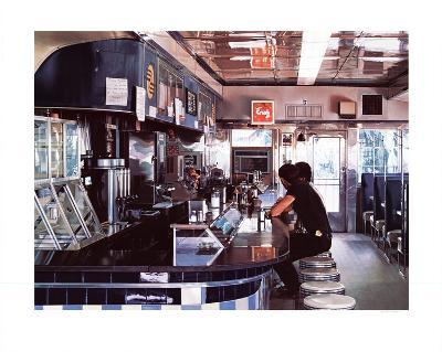 Blue Diner-Ralph Goings-Serigraph