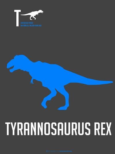 Blue Dinosaur-NaxArt-Art Print