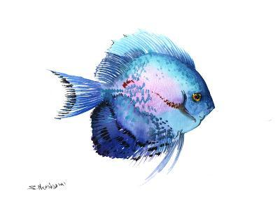 Blue Discus 2-Suren Nersisyan-Art Print
