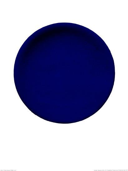 Blue Disk, c.1957 (IKB54)-Yves Klein-Serigraph