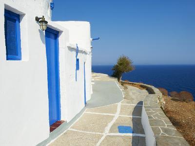 Blue Door and Shutters, Kastro Village, Sifnos, Cyclades Islands, Greek Islands, Aegean Sea, Greece-Tuul-Photographic Print