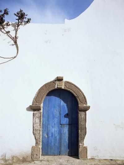 Blue Door, Filicudi, Aeolian Islands, Unesco World Heritage Site, Italy-Oliviero Olivieri-Photographic Print