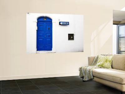 Blue Door in Old Town-Pamela Valente-Wall Mural