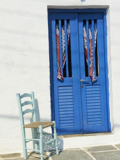 Blue Door in the Old Village of Kastro, Sifnos, Cyclades Islands, Greek Islands, Greece, Europe-Tuul-Photographic Print