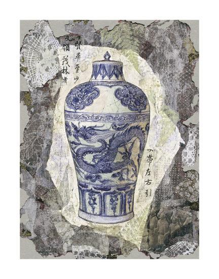 Blue Dragon Vase-Annabel Hewitt-Art Print