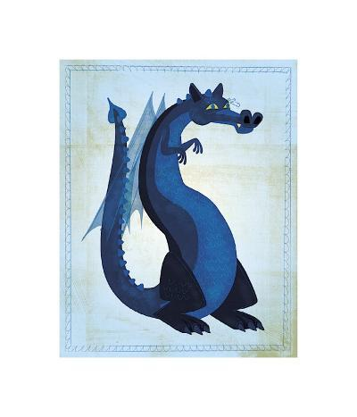 Blue Dragon-John Golden-Giclee Print