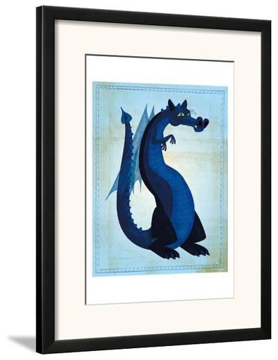 Blue Dragon-John Golden-Framed Art Print