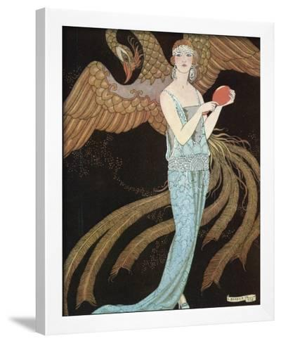 Blue Dress by Beer-Georges Barbier-Framed Giclee Print