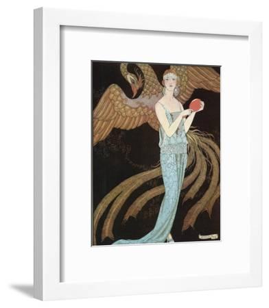 Blue Dress by Beer-Georges Barbier-Framed Premium Giclee Print